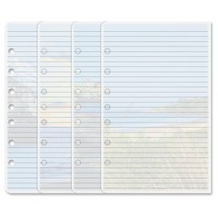 """Day-Timer Coastlines 13188 Notepad - 24 Sheets - 5 1/2"""" x 8 1/2"""" - Punched - Recycled - 1 / Each"""