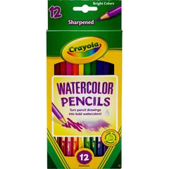 Crayola Watercolor Colored Pencil - 3.3 mm Lead Size - Magenta Ink - Sky Blue Lead, Black Lead, Violet Lead, Blue Lead, Yellow-green Lead, Yellow Lead, Orange Lead, Red Lead, Brown Lead, White Lead -