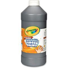 Crayola Washable Finger Paint Markers - 2 lb - 1 Each - Black