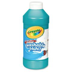 Crayola Washable Paint - 16 fl oz - 1 Each - Turquoise
