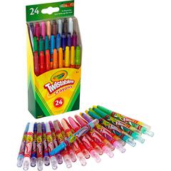 Crayola Mini Twistables Crayons - Clear - 24 / Set