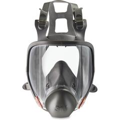 3M 6800 Full Fpiece Reusable Respirator - Medium Size - Gases, Vapor, Particulate Protection - Thermoplastic - Black, Gray - 1 / Each