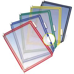 """Tarifold Pivoting Pockets for Wall or Desk Systems - Support Letter 8.50"""" x 11"""" Media - Pivot, Flexible - Assorted Frame, Clear Pocket - Metal Pivot, Steel Wire, Polyvinyl Chloride (PVC) Pocket - 10 /"""
