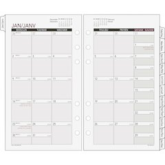 "Day Runner Express Planning Page - Julian - Monthly - 1 Year - January 2017 till December 2017 - 1 Month Double Page Layout - 3.75"" x 6.75"" - 6-ring - White - Tabbed"