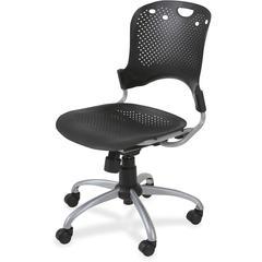 """Balt Circulation Task Chair - Polypropylene Black Seat - Polypropylene Back - 5-star Base - Black - 25"""" Width x 23.8"""" Depth x 37.8"""" Height"""