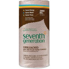 """Seventh Generation Recycled Natural Brown Paper Towels - 2 Ply - 11"""" x 9"""" - 120 Sheets/Roll - Brown - Paper - Lint-free, Absorbent, Hypoallergenic, Fragrance-free, Dye-free - 120 / Roll"""