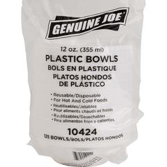 Genuine Joe Reusable Plastic Bowls - Bowl - Plastic Bowl - White - 125 Piece(s) / Pack