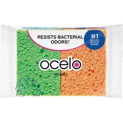 "O-Cel-O StayFresh Sponges - 3"" Width x 4.3"" Length x 600 mil Thickness - 48/Carton - Cellulose - Assorted"