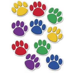 """Teacher Created Resources Colorful Paw Prints Accent - 8.50"""" Height x 7"""" Width - Assorted - 30 / Set"""
