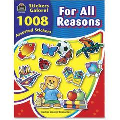 Teacher Created Resources For All Reasons Sticker Book - Self-adhesive - Acid-free, Lignin-free - Assorted - 1008 / Pack