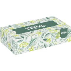 "Kleenex Naturals Facial Tissue - 8.40"" x 8.40"" - White - Fiber - Soft - For Restroom - 125 Sheets Per Box - 125 / Box"
