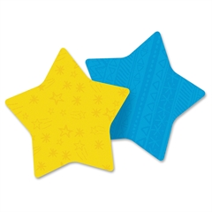 "Super Sticky Notes in Star Die Cut Shape - 150 - 3"" x 3"" - Star - 75 Sheets per Pad - Unruled - Assorted - Self-adhesive - 2 Pad"