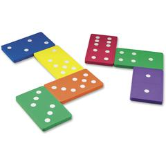 Learning Resources Foam Jumbo Dominoes - Skill Learning: Sorting, Patterning, Arithmetic, Fraction, Logic