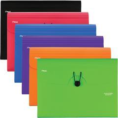 "Five Star 6 Pocket Plastic Expanding File - Letter - 8 1/2"" x 11"" Sheet Size - 6 Pocket(s) - Plastic - Assorted - 1 Each"