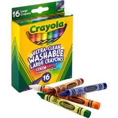 Crayola Ultra-Clean Washable Large Crayons - 16 / Box