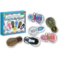 Carson-Dellosa PreK-Grade 1 I Can Tie My Shoes Cards Set - Theme/Subject: Learning - Skill Learning: Motor Skills, Eye-hand Coordination - 6 Pieces
