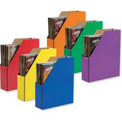 Classroom Keepers Corrugated Magazine Holders - Assorted - Cardboard - 6 / Pack