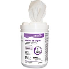 """Diversey Oxivir Tb Wipes - Wipe - Characteristic Scent - 6"""" Width x 7"""" Length - 160 / Canister - 1 Each - White"""