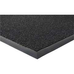 "Genuine Joe Ultraguard Berber Heavy Traffic Mat - Hard Floor - 60"" Length x 36"" Width - Rubber - Charcoal Black"
