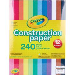 """Crayola Construction Paper - 9"""" x 12"""" - 240 / Pack - Assorted"""