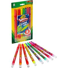 Crayola eXtreme Colors Twistable Crayons - Clear, Assorted - 8 / Pack