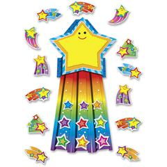 Carson-Dellosa Shooting Stars Bulletin Board Set - (Star, Rainbow) Shape - Assorted - 1 / Set