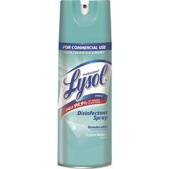 Professional Lysol Lysol Crystl Waters Disinf Spray - Ready-To-Use Aerosol - 12.50 fl oz - Crystal Waters Scent - 1 Each - White