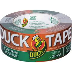 "Duck Brand Brand Outdoor/Exterior Duct Tape - 1.88"" Width x 90 ft Length - 1 / Roll - Gray"