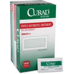 Curad Triple Antibiotic Ointment Packets - 0.30 oz - 144 / Box