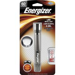 Energizer LED Metal Flashlight with Batteries - AA - AluminumBody - Silver