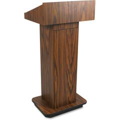"AmpliVox W505 - Executive Non-sound Column Lectern - Rectangle Top - Sculpted Base - 20.75"" Table Top Width x 16.50"" Table Top Depth - 47"" Height x 22"" Width x 18"" Depth - Assembly Required - High Pre"