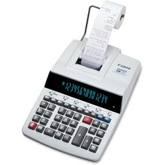 Canon MP49DII Desktop Printing Calculator - Dual Color Print - Dot Matrix - 4.8 lps - Heavy Duty, Extra Large Display, Auto Power Off, Clock, Calendar, Sign Change, Item Count - 14 Digits - Fluorescen