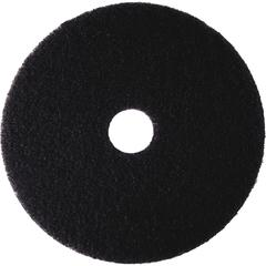 "3M Niagara 7200N Black Stripping Pad - 12"" Diameter - 5/Box x 12"" Diameter - Black"