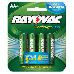 Rayovac PL715-4B Rechargeable AA Battery - AA - Nickel Metal Hydride (NiMH) - 1.2 V DC - 4 / Pack