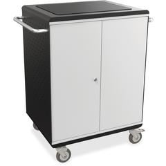 "MooreCo A La Cart Tablet Cart - 2 Shelf - 6 Casters - 4"" Caster Size - Steel, Plastic - 31.8"" Width x 20.1"" Depth x 36.8"" Height - Gray - For 32 Devices"