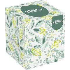 "Kleenex Naturals Facial Tissue - 8"" x 8.40"" - White - Virgin Fiber, Fiber - Soft - For Restroom - 95 Sheets Per Box - 36 / Carton"