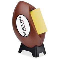 "Post-it Popup Football Team Logo Note Dispenser - 3"" x 3"" - Holds 50 Sheet of Note - Black"