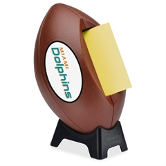 """Post-it Popup Football Team Logo Note Dispenser - 3"""" x 3"""" - Holds 50 Sheet of Note - White"""
