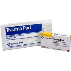 "First Aid Only Trauma Pad - 5"" x 9"" - 1Each - White"