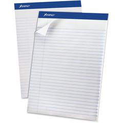 "Ampad Legal Ruled Recycled Writing Pads - 50 Sheets - 0.34"" Ruled - 15 lb Basis Weight - 8 1/2"" x 11 3/4"" - Environmentally Friendly, Perforated, Chipboard Backing, Rigid - 1Dozen"