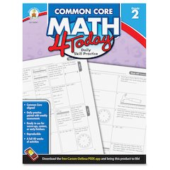 Carson-Dellosa Grade 2 Common Core Math 4 Today Workbook Education Printed Book for Mathematics - English - Book - 96 Pages