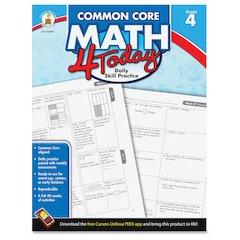 Carson-Dellosa Common Core Math 4 Today Grade-4 Workbook Education Printed Book for Mathematics - English - Book - 96 Pages