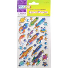 ChenilleKraft Peel/Stick Space Shapes Gemstones - Learning, Fun Theme/Subject - Space Shapes - Easy Peel - Assorted - 174 / Set