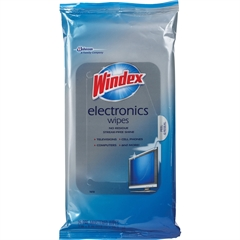 Windex Electronics Wipes - For Multi Surface, Multipurpose, Display Screen - Residue-free - 25 - 25 / Each - Blue