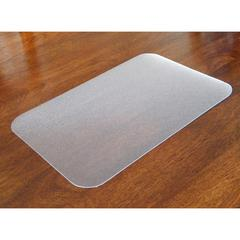 "Desktex Antimicrobial Desk Mat - Rectangle - 24"" Width x 19"" Depth - Polyvinyl Chloride (PVC) - Clear"
