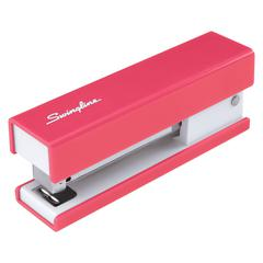 "Swingline® Fashion Stapler, 20 Sheets, Solid, Pink - 20 Sheets Capacity - 105 Staple Capacity - Half Strip - 1/4"" Staple Size - Pink"