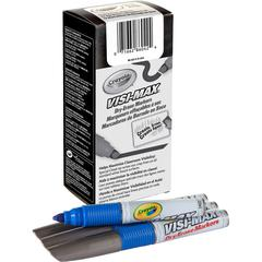 Crayola Visi-Max Dry-Erase Markers - Bold Point Type - Chisel Point Style - Blue - 1 Dozen