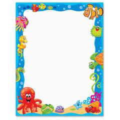 """Trend Sea Buddies Collection Terrific Papers - Letter - 8 1/2"""" x 11"""" - Assorted Paper - Acid-free - 50 / Pack"""