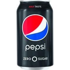 Pepsi Max Zero Calorie Cola - Soda, Cola Flavor - 12 fl oz (355 mL) - Can - 12 / Pack