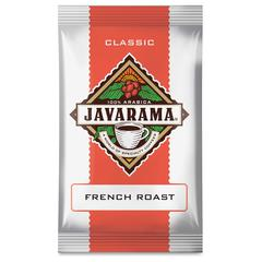 DS Services Javarama French Roast Coffee Packs - Regular - French Roast - Medium/Dark - 2 oz Per Pack - 24 Packet - 24 / Carton